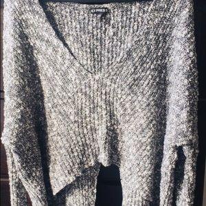 Express Split Back Sweater